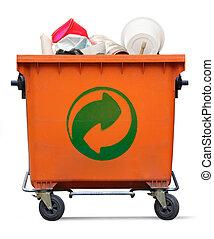 Garbage bin - Der Grune Punkt on garbage bin
