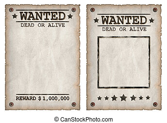 Wanted dead or alive grungy poster