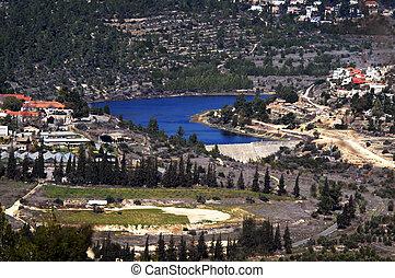 Beit Zayit Reservoir in Jerusalem, Israel - EIN KAREM, ISR -...