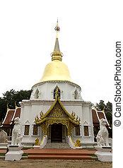 White pagoda at Wat Pa Dara Phirom, Mae Rim in Chiang Mai...