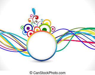 abstract rainbow line wave explode vector illustration