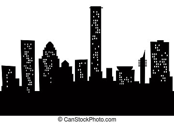Cartoon Tel Aviv - Cartoon skyline silhouette of the city of...