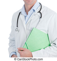 Doctor carrying a patients file