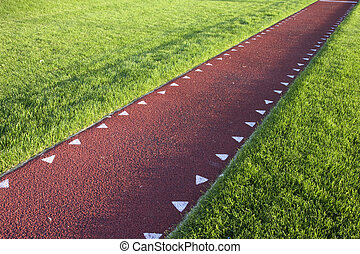 running track for a  long jump competition