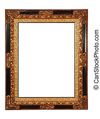 frame with clipping path - antique frame with clipping path