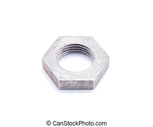 metal nut on a white background