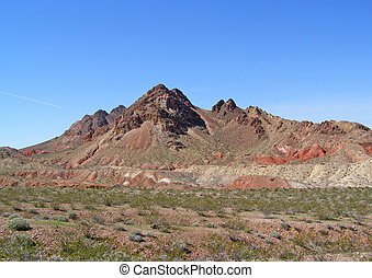 Cone mountains - Cone shaped mountains in the Bowl of Fire...