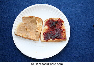 toast with peanut butter and jelly - Toast with peanut...