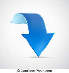 Abstract 3d Blue Arrow Icon