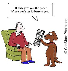 Dog will not hand over paper - The family dog is worried...