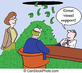 Great visual support