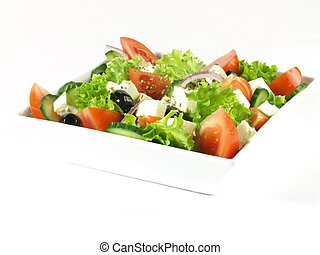 Healthy greek salad for your diet - Low-fat salad with...