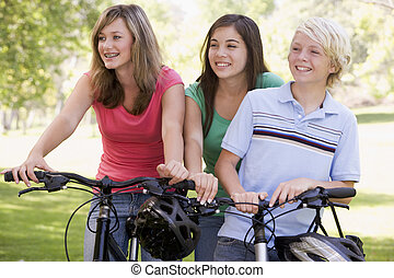 Teenagers On Bicycles
