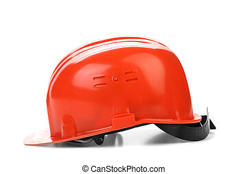 Red hard hat.