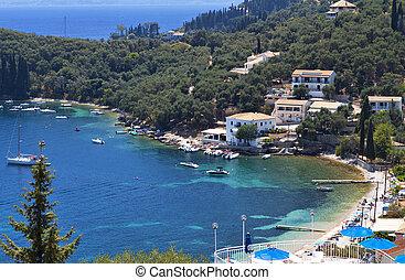 Corfu island in Greece - Kalami bay at Corfu island in...