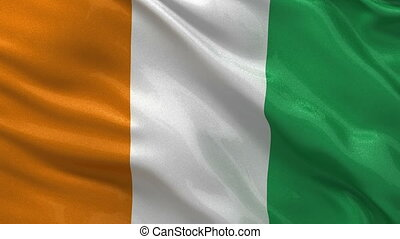 Flag of Ivory Coast seamless loop - Flag of Ivory Coast...