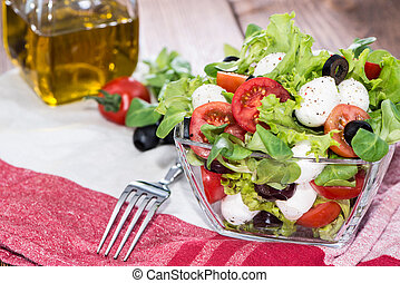 Bowl with fresh Tomato-Mozzarella Salad - Bowl with fresh...