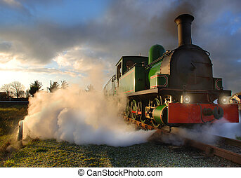 Steam Engine - The Slieve Callan, one of the only running...
