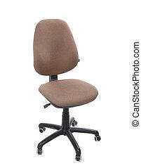 beige, couleur, bureau, chaise