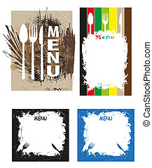 grunge menu - series of illustrations suitable for...