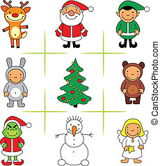 Christmas icons - Christmas related vector icons