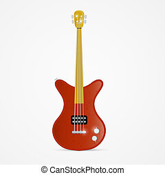 Bass Guitar Illustration