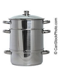 stainless cooker - stainless steam cooker with glass cover...