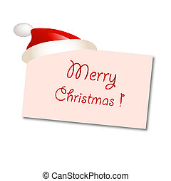 Greeting card with christmas cap