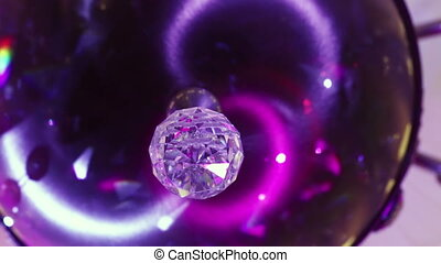 Crystal ball - Element in the form of ceiling chandelier...