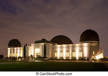 Griffith Observatory At Night - Griffith Observatory shines...