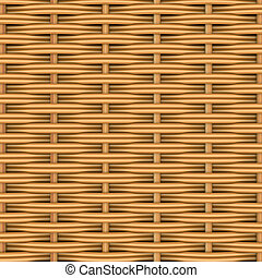 Woven rattan with natural patterns. The 3d render