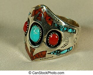 Sterling Silver Ring - American Indian sterling silver ring...