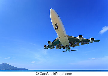Airplane landing