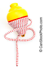 whipping toy - trompo on white background