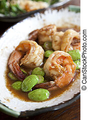 Phad Sa Taw Soi Ka-Pi Ster-fried Thai Flat Beans with Shrimp...