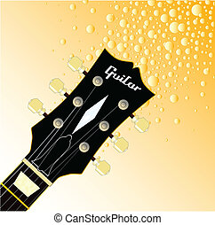 Headstock Fizz - A traditional guitar headstock with strings...