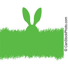 Easter bunny green greeting card