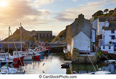 Cornish fishing village - The historic fishing village of...
