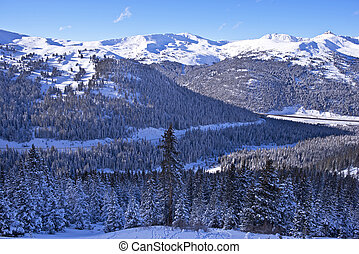 Scenic Winter Colorado Landscape Winter Mountains Scenery in...