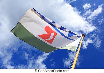 flag of rincon bonaire - flag of Rincon Bonaire against blue...
