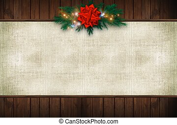 Canvas Christmas Background - Wood and Canvas Christmas...