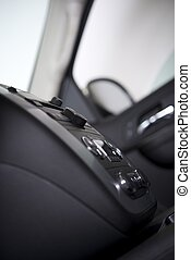Car Dashboard - Modern Car Dashboard Side View. Multimedia...
