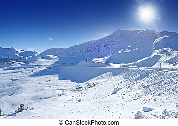 Colorado Winter Panorama - Arapahoe Basin Area, Colorado,...