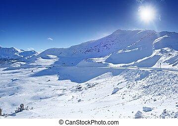 Colorado Winter Panorama - Arapahoe Basin Area, Colorado,...