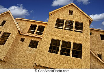 Construction Business. New Town Homes Under Construction....