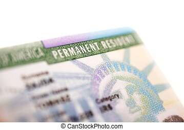 American Green Card - United States Permanent Residency Card...