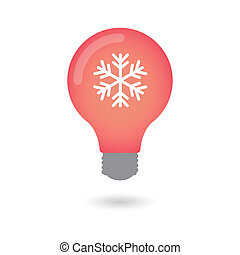 Lightbulb with a snow flake