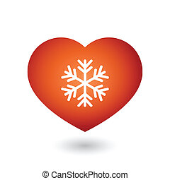 Heart with a snow flake