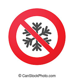 Signal with a snow flake