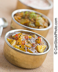 Mango Chutney with Lime Pickle and Raita